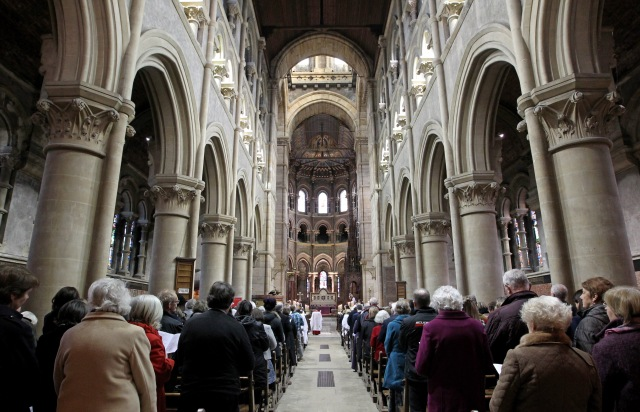 Choral Evensong and Service of Thanksgiving, marking 70 years of Christian Aid, at St. Fin Barre's Cathedral, Cork. Picture: Jim Coughlan.