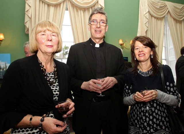 Attending a reception before the Thanksgiving service (l-r) Sandra Dukelow, Christian Aid Ireland Board, with The Very Rev. Nigel Dunne and his wife Isobel, at  The Palace, Bishop Street, Cork. Picture: Jim Coughlan.