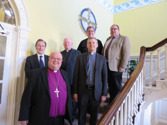 At the Sixteenth Colloquium of Anglican and Roman Catholic Canon Lawyers were (l-r) Professor Norman Doe, Dr Paul Colton, Professor James Conn, Father Andrew Cole, Father FIntan Gavin, and Professor Mark Hill, Q.C.