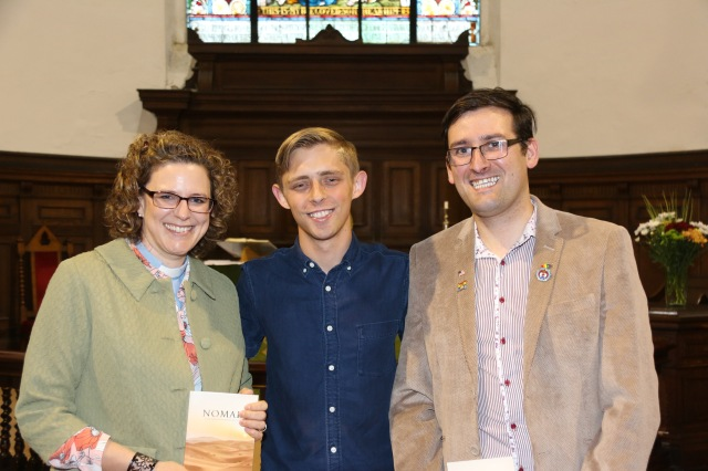 At the Changing Attitude Ireland event in Saint Anne's Church, Shandon, COrk were (l-r) the Reverend Sarah Marry (Priest-in-Charge), Brandan Robertson, and Stephen Spillane (Changing Attitude Ireland).
