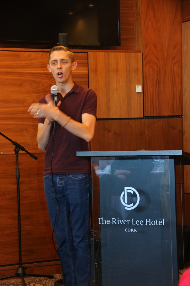 Brandan Robertson speaks at 'The Bishop's Breakfast with Brandan Robertson' in the River Lee Hotel, Cork.