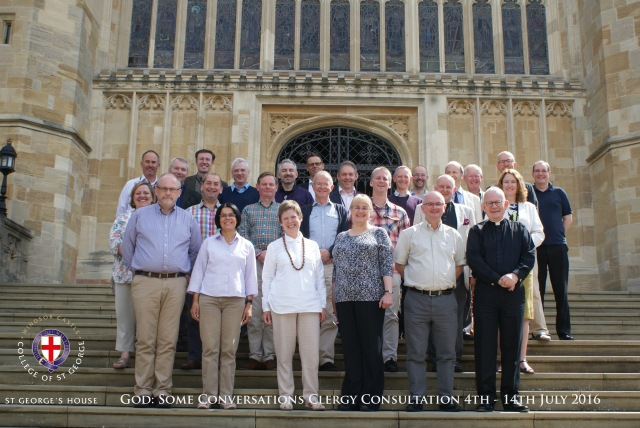 The group at the Clergy Course at St George's House, Windsor Castle including two from Cork in the middle row the Reverend Elaine Murray (on the left) and the Reverend Peter Rutherford (third from left).