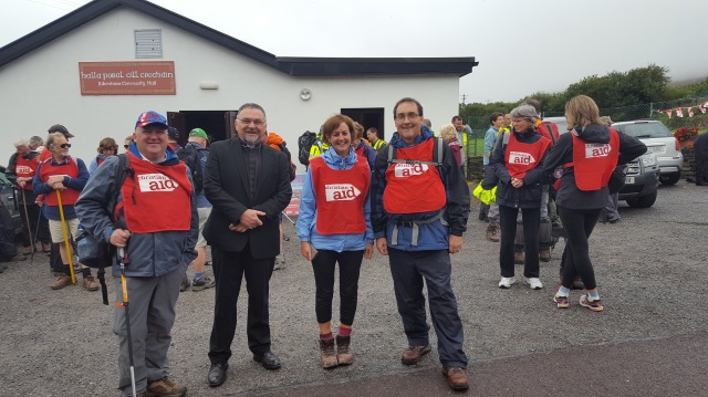 AT the SHeep's Head Hike 2016 were l-r: the Reverend Denis MacCarthy, Canon Paul Willoughby, the Reverend Anne Skuse and the Reverend Stephen McCann.