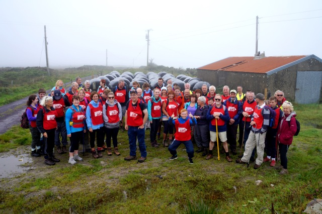 Some of the many hikers who took part in the SHeep's Head Hike 2016