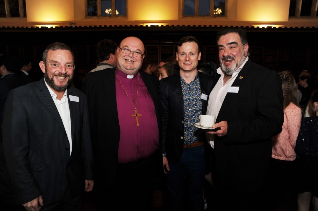 Photographed at the launch of Cork's first Educate Together Secondary School (CETSS) which was officially launched at UCC were; Sen. Jerry Buttimer, Bishop of Cork, Dr. Paul Colton; Paul O'Shea (UCC) and Dave Roche, Cork Gay Project. Picture: Billy macGill