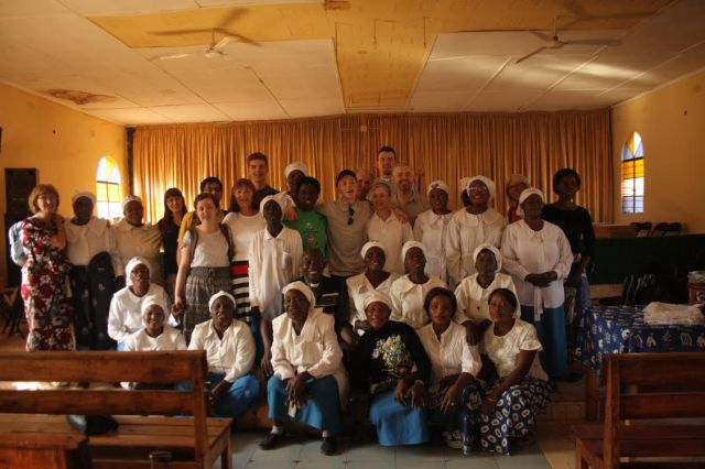 MET members meet with the Mothers' Union in St James' Parish, Kitwe.
