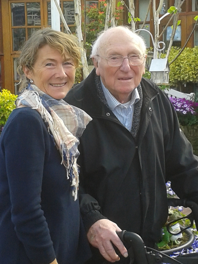 The late Herbert Calvert pictured here with his daughter, Felicity, earlier this year.