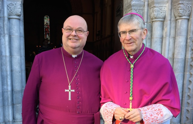 The Right Reverend Dr Paul Colton (left) and the Most Reverend Dr John Buckley.