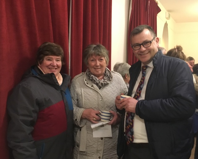 SPeaker at the Ecumenbical Service, Dr Andrew Pierce (right) with parishioners of Our Lady and St John's, Carrigaline.