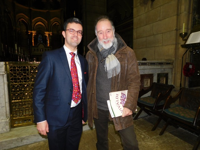 Peter Stobart (Director of Music, St Fin Barre's Cathedral) with John Fitzpatrick (Cork International Choral Festival)