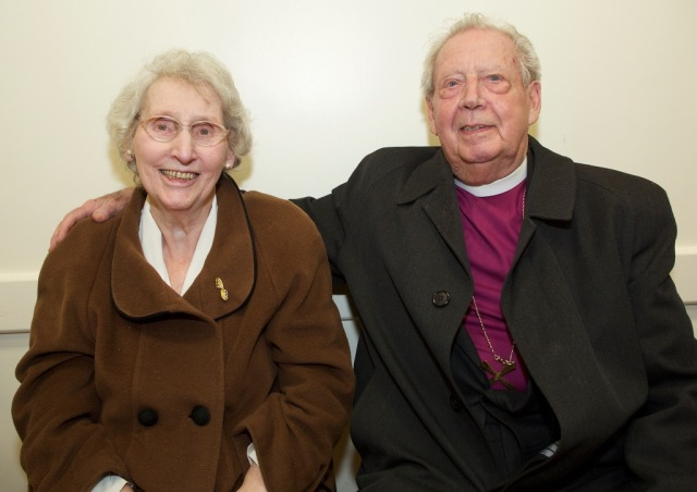 Mrs Noreen Poyntz and Bishop Samuel Poyntz on a visit to Cork, Cloyne and Ross in March 2015 . Photograph: Neil Danton.