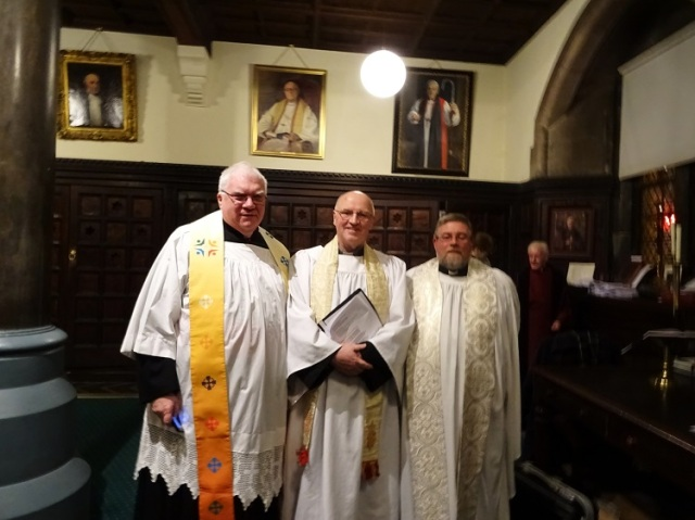 From Left:  Monseigneur  Dan Ó Connor, the Rev. Tony Murphy and the Rev. David Oxley