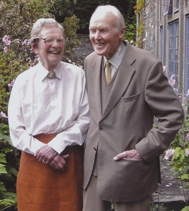 Sir Cosmo and Lady Haskard pictured in their garden at Tragariff, Bantry, County Cork.