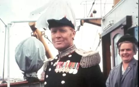 Sir Cosmo Haskard, arriving as Governor of the Falkland Islands in 1964.