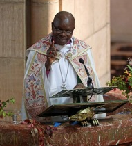 Visit of Archbishop of Burundi, The Most Reverend Martin Blaise Nyaboho. Picture: Jim Coughlan.