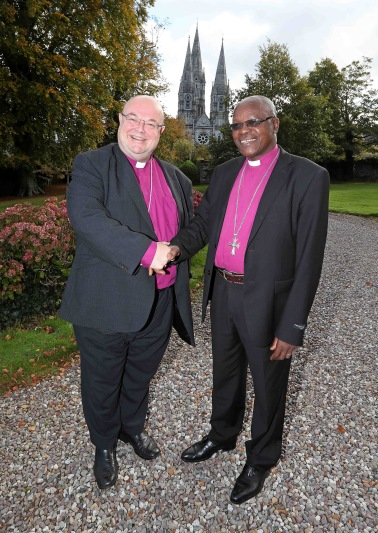 The Bishop of Cork, the Right Reverend Dr. Paul Colton with Archbishop of Burundi, The Most Reverend Martin Blaise Nyaboho. Picture: Jim Coughlan.